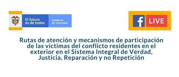 No se pierda la charla virtual que organiza el Consulado de Colombia en Antofagasta sobre las rutas de atención y mecanismos de participación de las víctimas del conflicto residentes en el exterior el próximo 3 de junio